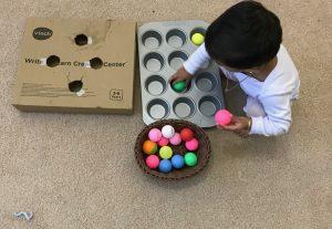 Ping pong Ball transfer activity