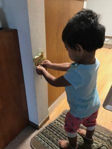 Indoor toddler activities with keys