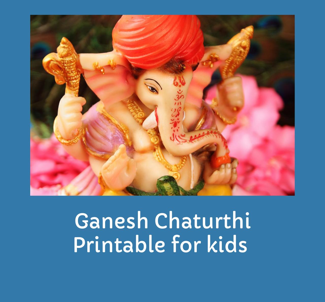 Ganesh Chaturthi Printable for kids