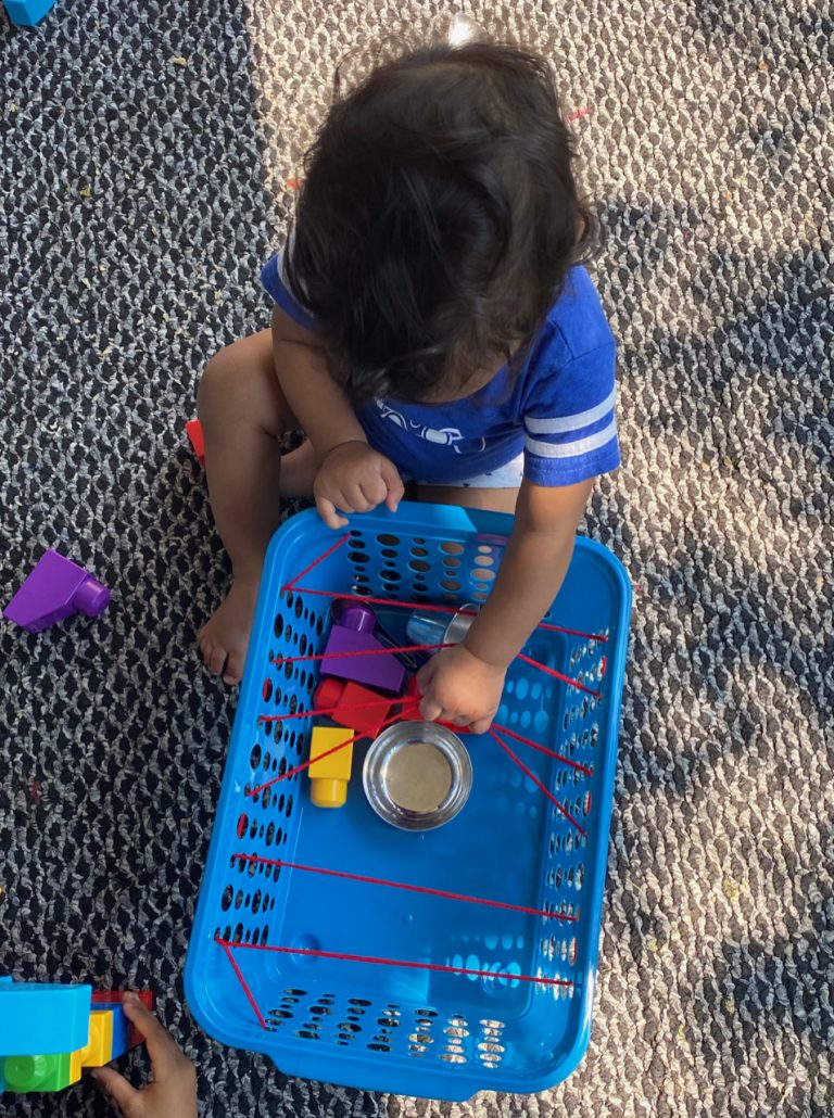Spider web Transfer activities for infants