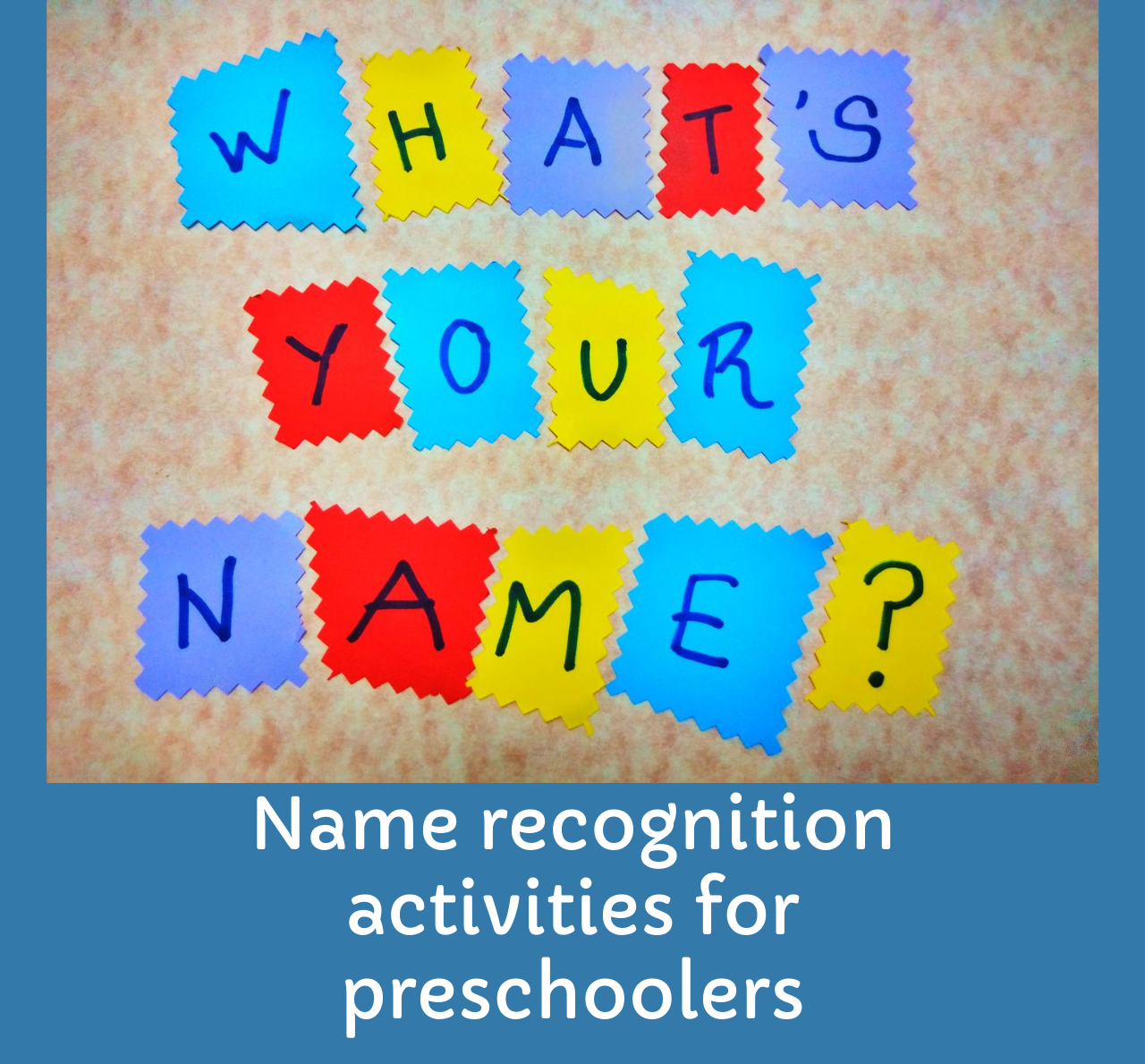 Name recognition activity for kids