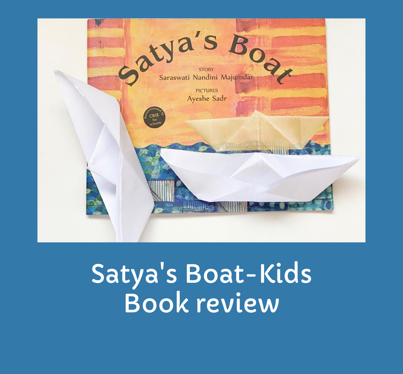 Kids Book review with props