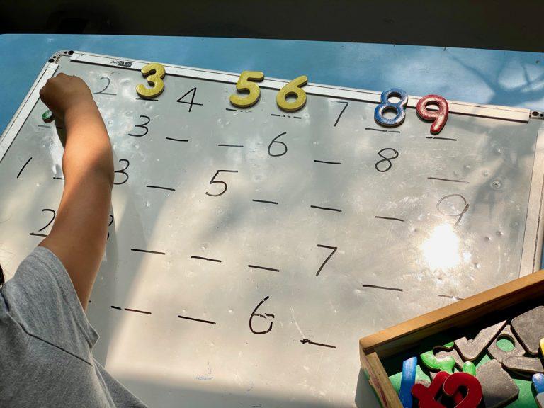 Math activities for preschool kids