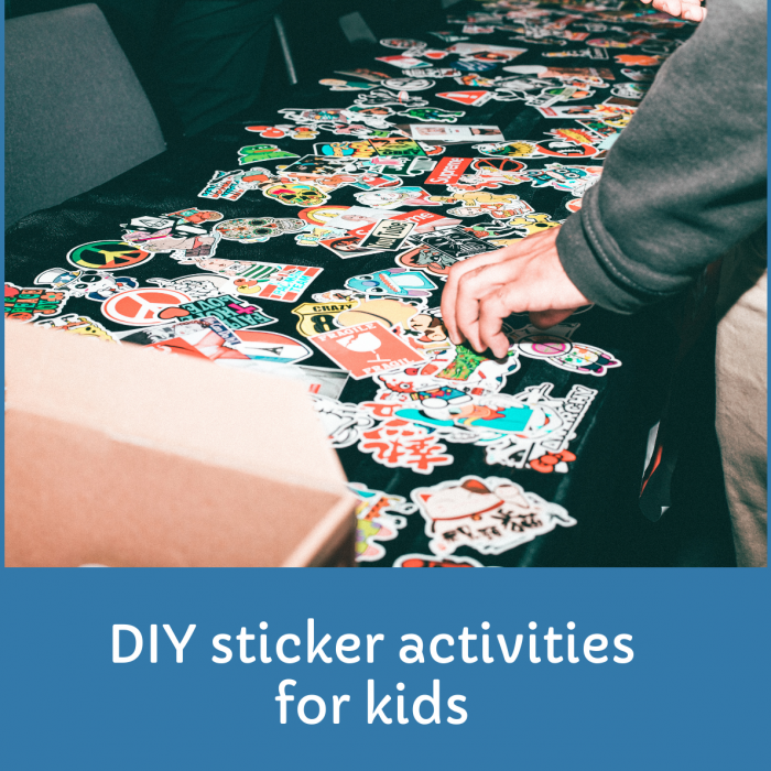How to make DIY sticker activities for kids