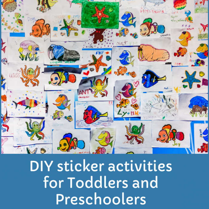 How to make DIY sticker activities for Toddlers and Preschoolers