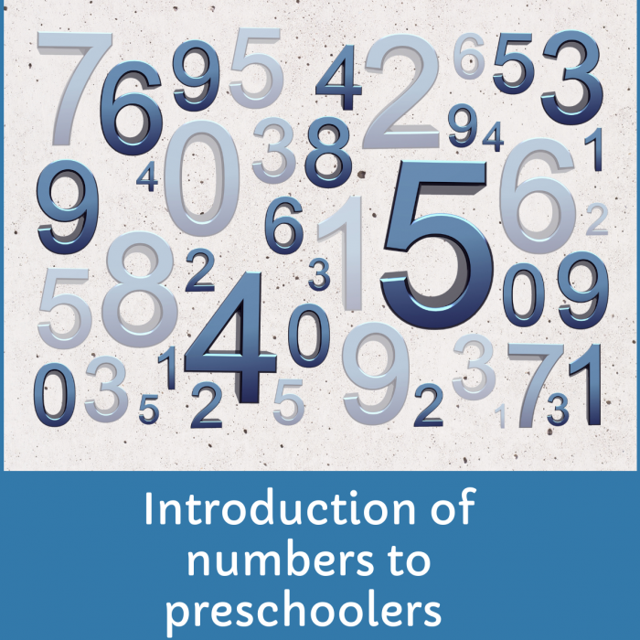How to introduce numbers to preschoolers in a playful way