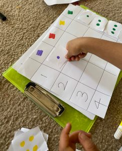 Subitizing concept for preschoolers