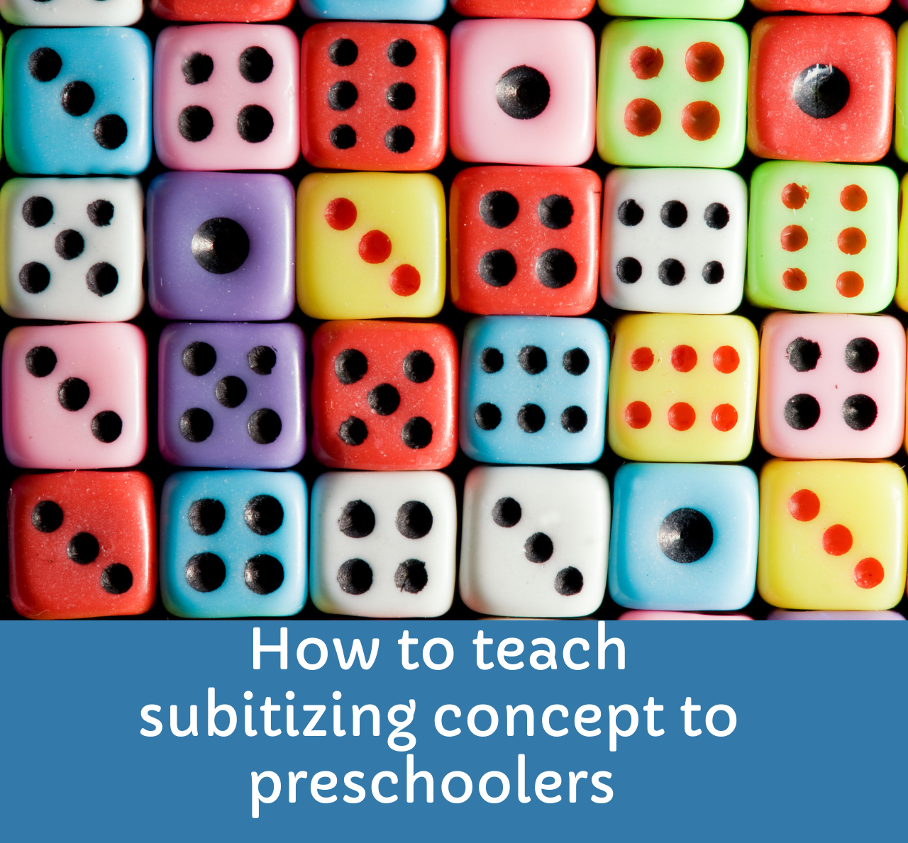 How to teach subitizing concept to preschoolers