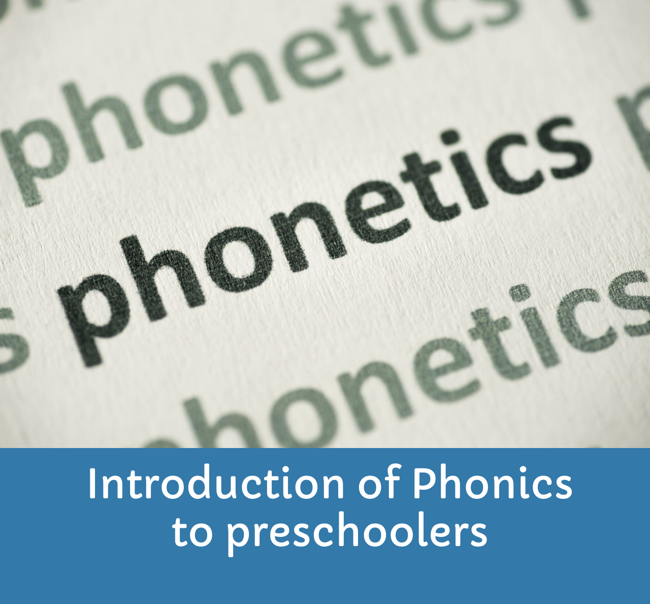 Introduction of phonics to kids