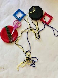 Yarn wrapping activity for kids