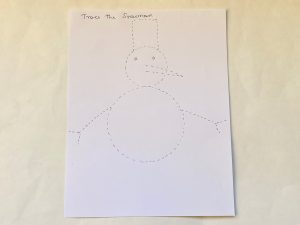 Snow theme activities at home