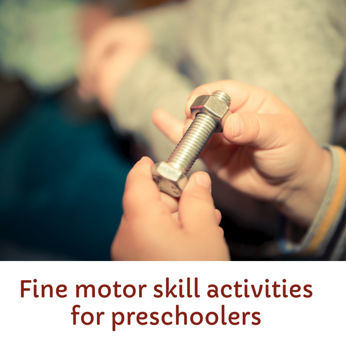 Best indoor fine motor skill activities for preschoolers