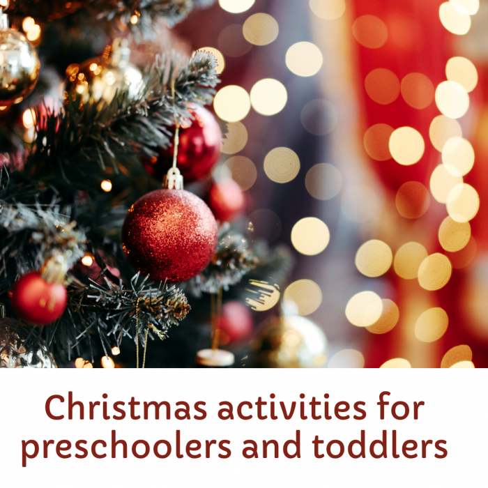 Simple Christmas activities for preschool kids and toddlers