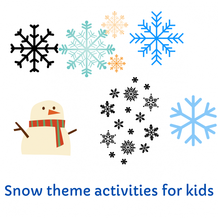 How to make fake snow-Simple snow theme activities for kids
