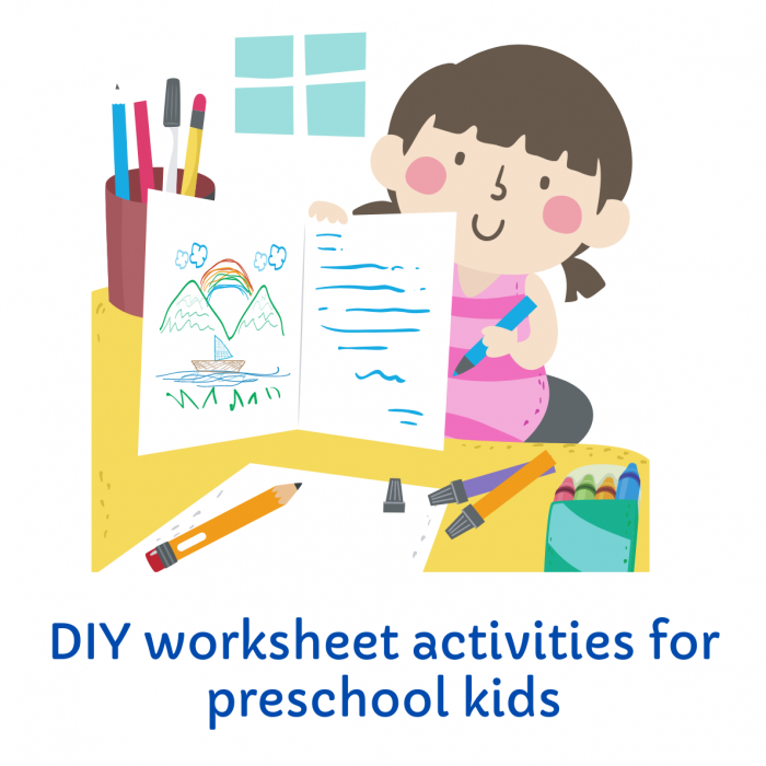 How to prepare DIY worksheets for preschoolers in 10 min