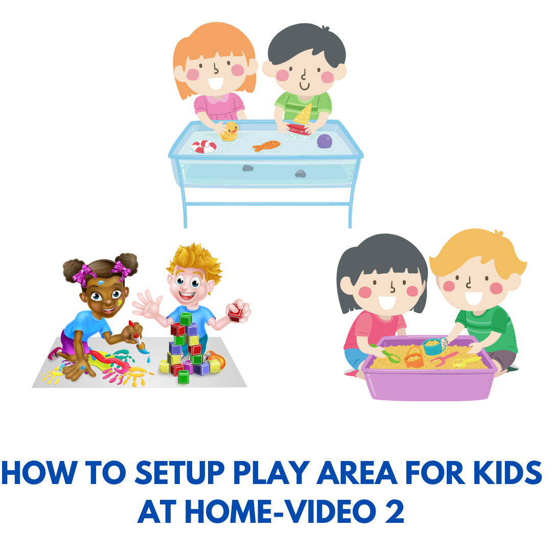 Play area setup for toddlers-1 year old
