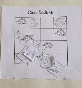 dinosaur sudoku for logical thinking