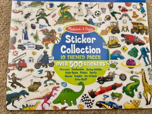 Sticker activities for kids to develop fine motor skill