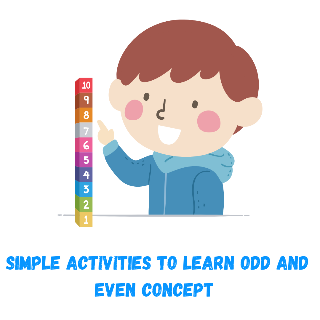 Odd and even concept for kids