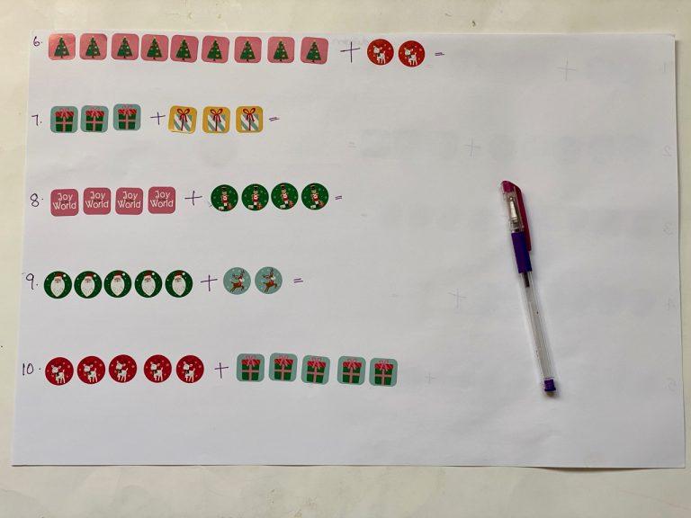 Addition worksheets for preschool kids