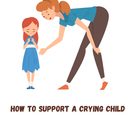 Support a crying child
