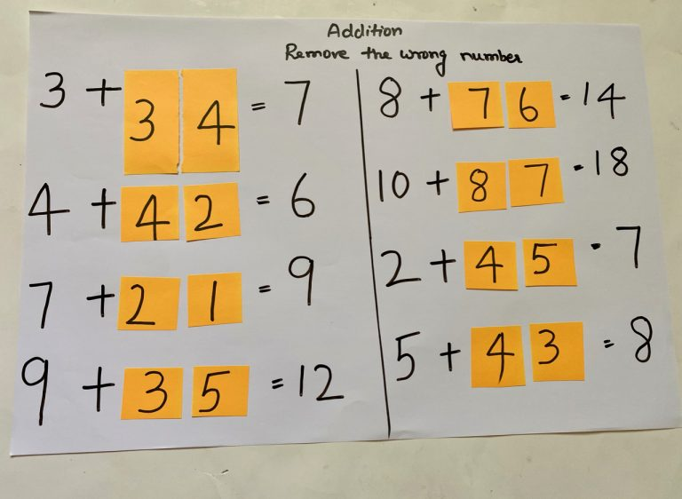 DIY math worksheet for preschool kids
