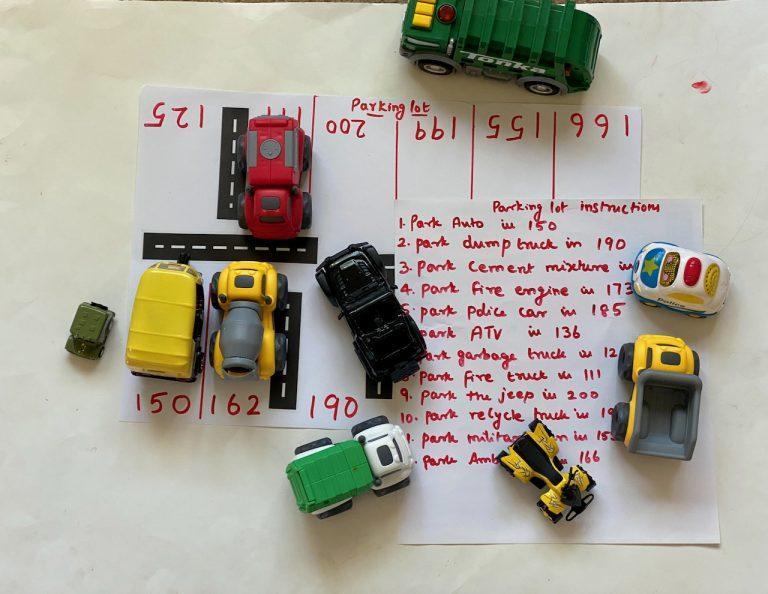 Parking activities for kids