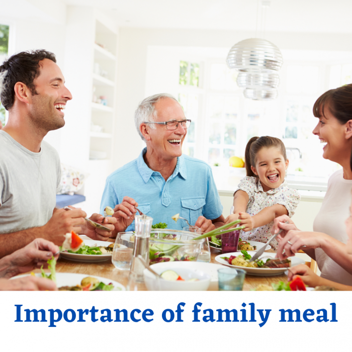 How to reduce screens during meal time and Importance of family meal time